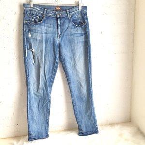 Mother Skinny Not Skinny Cream Soda skinny jeans